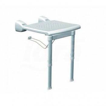 Sedile Ribaltabile Da Muro Con Gambe Bianco PR-WSL-PP-BX - Sanitari per disabili e comunità