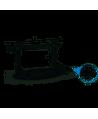Staffa regolabile Prem. Atena 450X800X400mm Sp.12 9793-450-121 - Collari/Staffe/Mensole