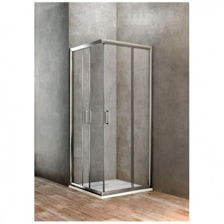 BOX DOCCIA UNO QUADRATO 900X900 BBGOLT90900002 - Box doccia in cristallo