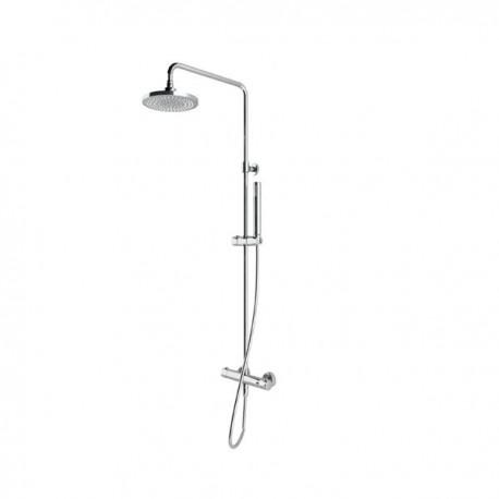 Colonna doccia pluvio tonda econ. con termostatico a 2 vie con deviazione integrata IDBBNCOLCTN050002