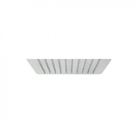 Doccetta Quadrata Pluvio 2 Getti spessore 2 mm 200x200 mm in acciao IDBBNSOFXSF270002