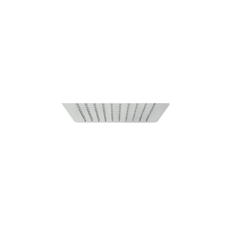 Soffione Pluvio quadrato ultra sottile, spessore 2 mm, 250x250 mm in acciaio IDBBNSOFXSF280002
