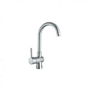 Miscelatore rubinetto lavello SILVER con collo girevole. Cartuccia da 40 mm. BTKEACLA140002