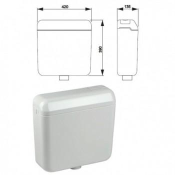 Cassetta esterna VALE duo con rubinetto, con tubo di cacciata 674430 - Cassette di risciacquo