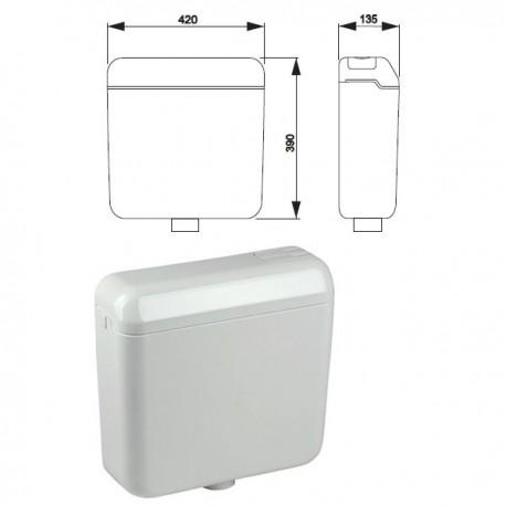 Cassetta esterna VALE duo con rubinetto IDB674430