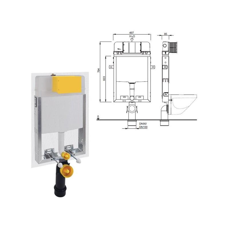 Cassetta incasso VALE modulo wc sospeso IDBT02-0112-0252