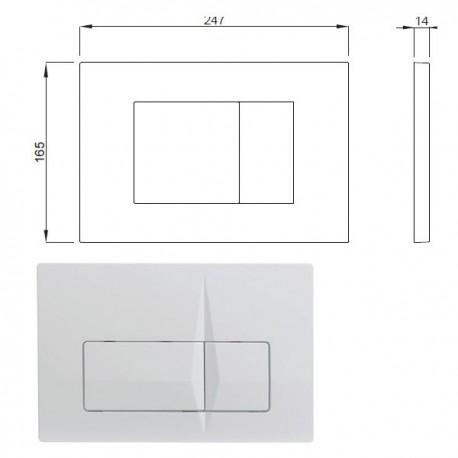 Placca VALE bianca P62-0130-0252 - Accessori