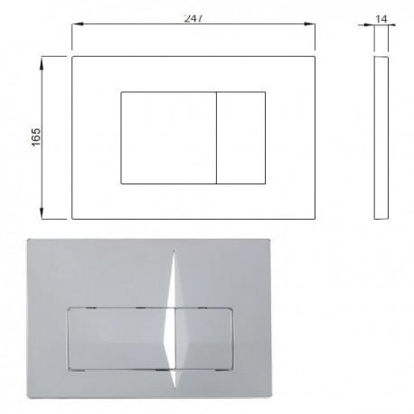 Placca VALE cromo IDBP62-0120-0252