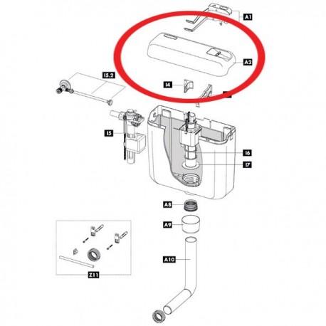 Coperchio per cassette di risciacquo IDB606405