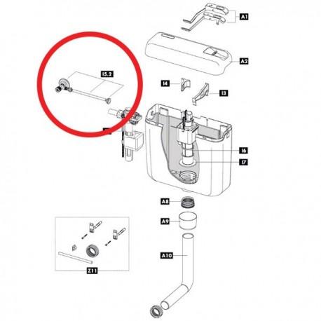 Kit completo rubinetto d'arresto 1/2 IDB607358