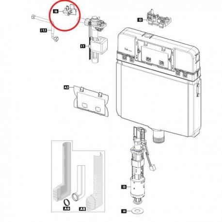 Supporto valvola riempimento 670080 - Cassette di risciacquo