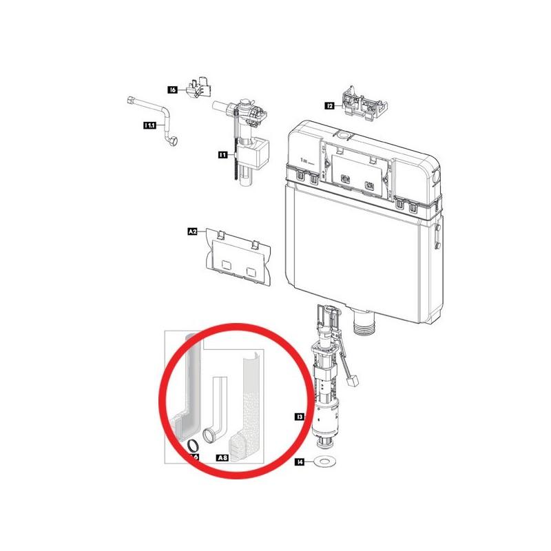 Tubo di cacciata isolato 366307 - Cassette di risciacquo