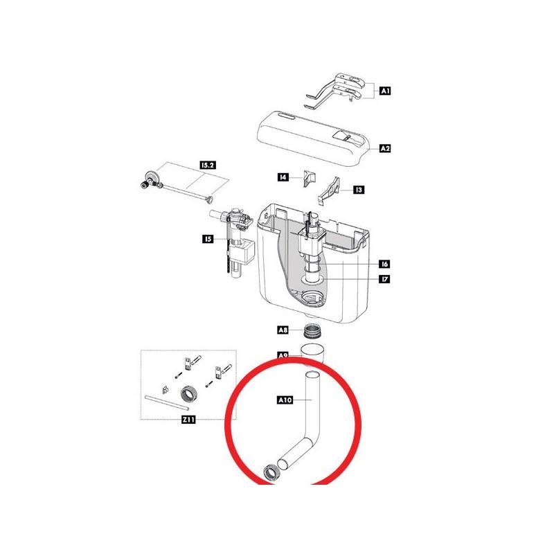 Tubo scarico Ø 50 / Ø 44 L. 270 mm - 220 mm 607359 - Cassette di risciacquo