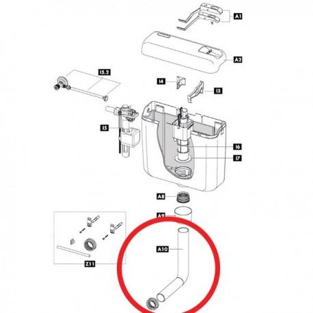 Tubo scarico Ø 50 / Ø 32 L. 325 mm - 200 mm 607360 - Cassette di risciacquo
