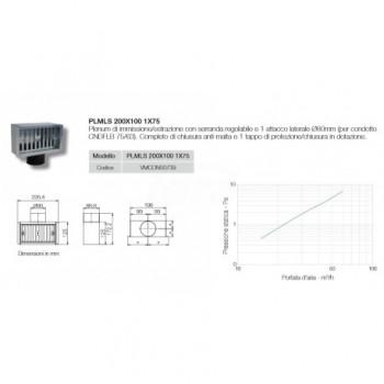 PLMLS 200X100 1X75 - PLENUM 200x100mm VMCONS0739