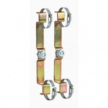 """658 Coppia zanche di fissaggio per collettori serie 350 e 592 da 3/4"""" e 1"""" CAL658200"""