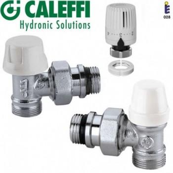 CALEFFI KIT1222302 Kit Valvola e Detentore Termostatizzabile con Testa Termostatica 3/8? 222302 342302 199000 KIT1222302 - Ac...