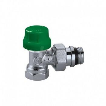 230 DYNAMICAL - Valvola termostatica dinamica predisposta per comandi termostatici ed elettrotermici. Attacchi a squadra per tubo in ferro CAL230302