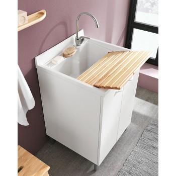 Prima, lavatoio lavanderia con asse di pino di Svezia, dim. 60x60 cm 7003PRIMAL