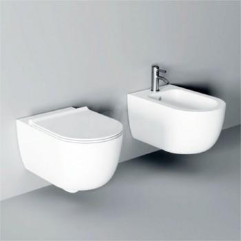 Sanitari sospesi Vaso wc con sedile soft-close e Bidet CREA000001