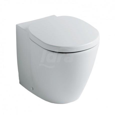Connect Vaso a terra completo di sedile, flussometro,cassetta alta o immurata, bianco E716701 - Vasi WC
