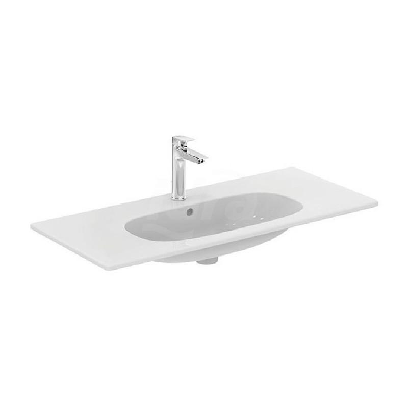 TESI lavabo TOP con foro 102,5x45 bianco europa T350801 - Lavabi e colonne