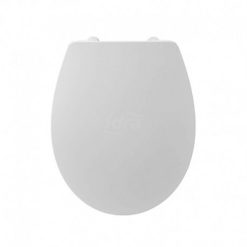 QUARZO sedile bianco europa CERNIERE IN PLASTICA E908401 - Sedili per WC