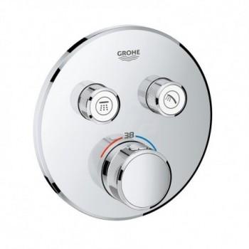 Grohtherm SmartControl Miscelatore rubinetto termostatico a 2 vie, finitura cromo, diametro 15,8 cm 29119000 - Gruppi per docce