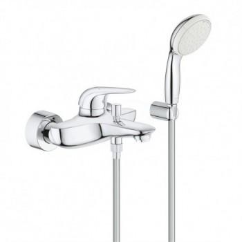 EUROSTYLE Miscelatore rubinetto monocomando per vasca/doccia finitura cromo 2372930A - Gruppi per vasche