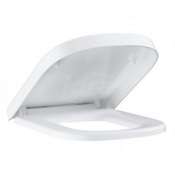 Euro Ceramic sedile con coperchio con chiusura ammortizzata, in termoindurente, bianco 39330000