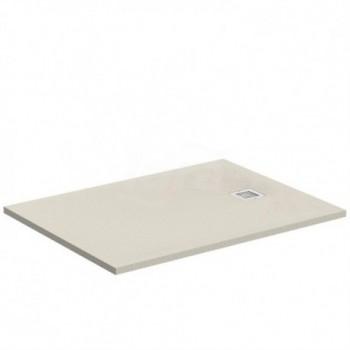 ULTRA FLAT S piatto doccia rettangolare ultrasottile Ideal Solid 100 x 70 cm, finitura opaca effetto pietra, sabbia K8218FT