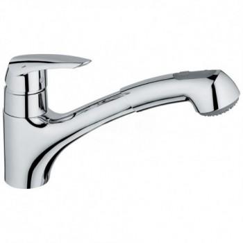 Eurodisc Miscelatore rubinetto Monocomando Lavello con Doccetta Estraibile finitura cromo 32257001 - Per lavelli