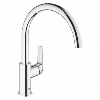 BauFlow Miscelatore rubinetto Monocomando Lavello Alto con Beccuccio Girevole, Cromo 31538000