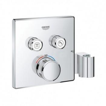 Grohtherm SmartControl Miscelatore rubinetto termostatico a 2 vie con supporto manopola doccia integrato, finitura cromo 2912...