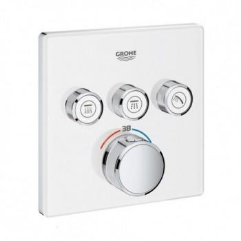 Grohtherm SmartControl Miscelatore termostatico a 3 vie, finiture moon white 29157LS0