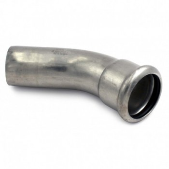 Curva 45° MF ø108 inox 316L press. o-ring giallo 181108451