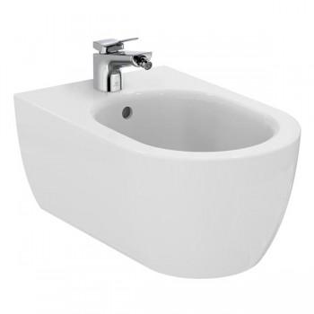 Ideal Standard Blend Curve sanitari sospesi: vaso wc AquaBlade, bidet e coprivaso rallentato T374901+T375001+T376001