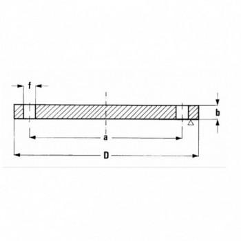 FLANGIA CIECA PN 16 250 TY05160250 - A saldare per tubi PED/PEHD