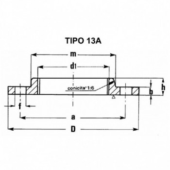 """FLANGIA FILETTATA PN 16 2""""1/2 TY13160212 - A saldare per tubi PED/PEHD"""