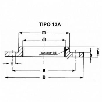 """FLANGIA FILETTATA PN 6 2""""1/2 TY13060212 - A saldare per tubi PED/PEHD"""