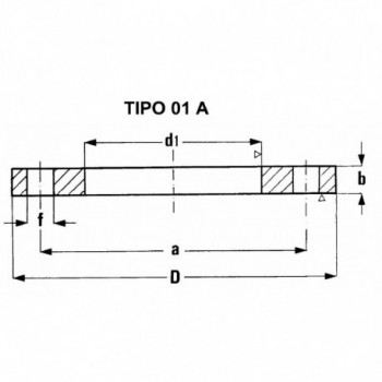 FLANGIA PIANA PN 16 DN100 TY01160100 - A saldare per tubi PED/PEHD