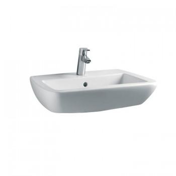21 lavabo con foro CENTR. 60x52 bianco europa T015301