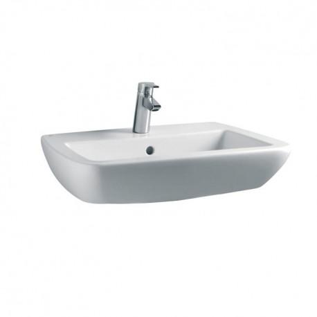 21 lavabo con foro centrale 68x52 bianco europa T015401