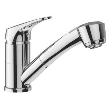 Miscelatore rubinetto lavello orientabile con doccetta estraibile, 2 getti in ABS - Cartuccia Ø 40 mm BTKIMCLA030002