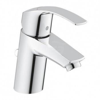 Eurosmart new rubinetto per lavabo con scarico a saltarello, bocca normale, GROHE SilkMove ES, GROHE EcoJoy 32926002 - Rubine...