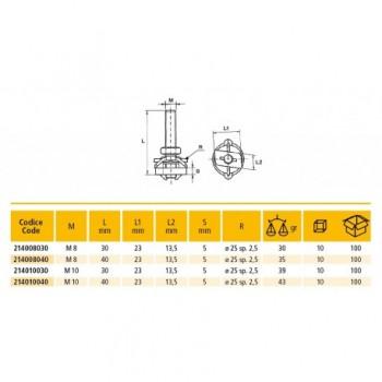 214 TM/CLIP BULLONE M10x30 PROF. 214010030