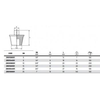 """290 TAPPO M. ø1""""M ACC. ZINC. C/BORDO 290100001 - In acciaio zincato filettati"""