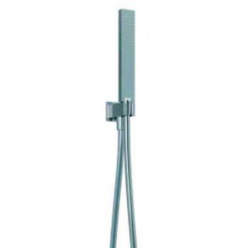 Supporto doccia fisso in ottone con presa acqua integrata. Flessibile antitorsione 1500 mm. Doccetta in ottone. BNKITCKI12000...