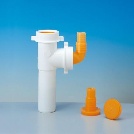 Art./7 racc.2vie+att. Lavast./lavatr. Ø40 bianco 8.2404.03 - Accessori in plastica
