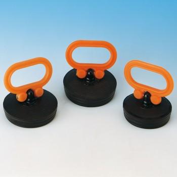 TAPPOMANIGLIA ø45 10° NERO/ARANCIO 8.0645.02 - Accessori in plastica